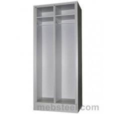Металлический шкаф для одежды ШР-22/600 без дверей