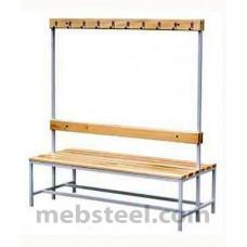 Скамья для спортивной раздевалки (дерево) 1500х730х1680