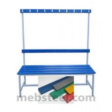 Скамья для спортивной раздевалки (пластик) 1500х380х1680