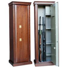 Элитный сейф для оружия Заслон D с отделкой шпоном дуба.