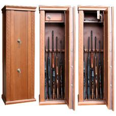 Элитный сейф для оружия ОШЭЛ-535 с отделкой шпоном дуба