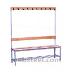 Скамья для спортивной раздевалки (дерево) 1500х380х1680