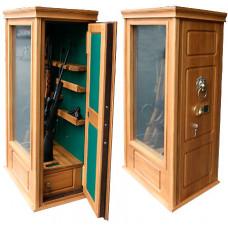 Элитный сейф для оружия ОШЭЛ-635БЭ с отделкой деревом