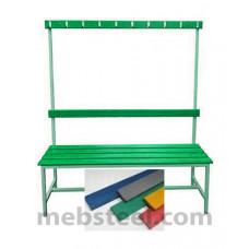 Скамья для спортивной раздевалки (пластик) 2000х380х1680