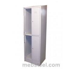 Металлический шкаф для одежды ШР-24/600НК