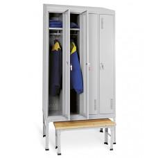 Шкаф для одежды ОД-247 с подставкой и скамьей
