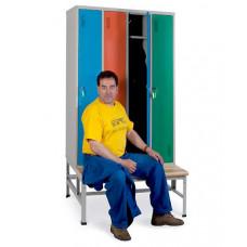Шкаф для одежды ОД-247 с подставкой-скамьей