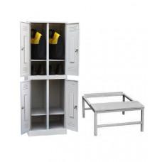 Шкаф для одежды ШР-24 600 с подставкой-скамьей