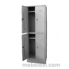 Металлический шкаф для одежды ШР-24/600
