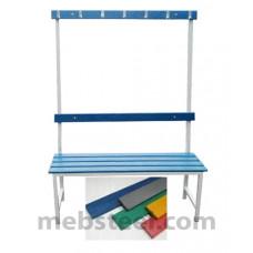 Скамья для спортивной раздевалки (пластик) 1000х380х1680